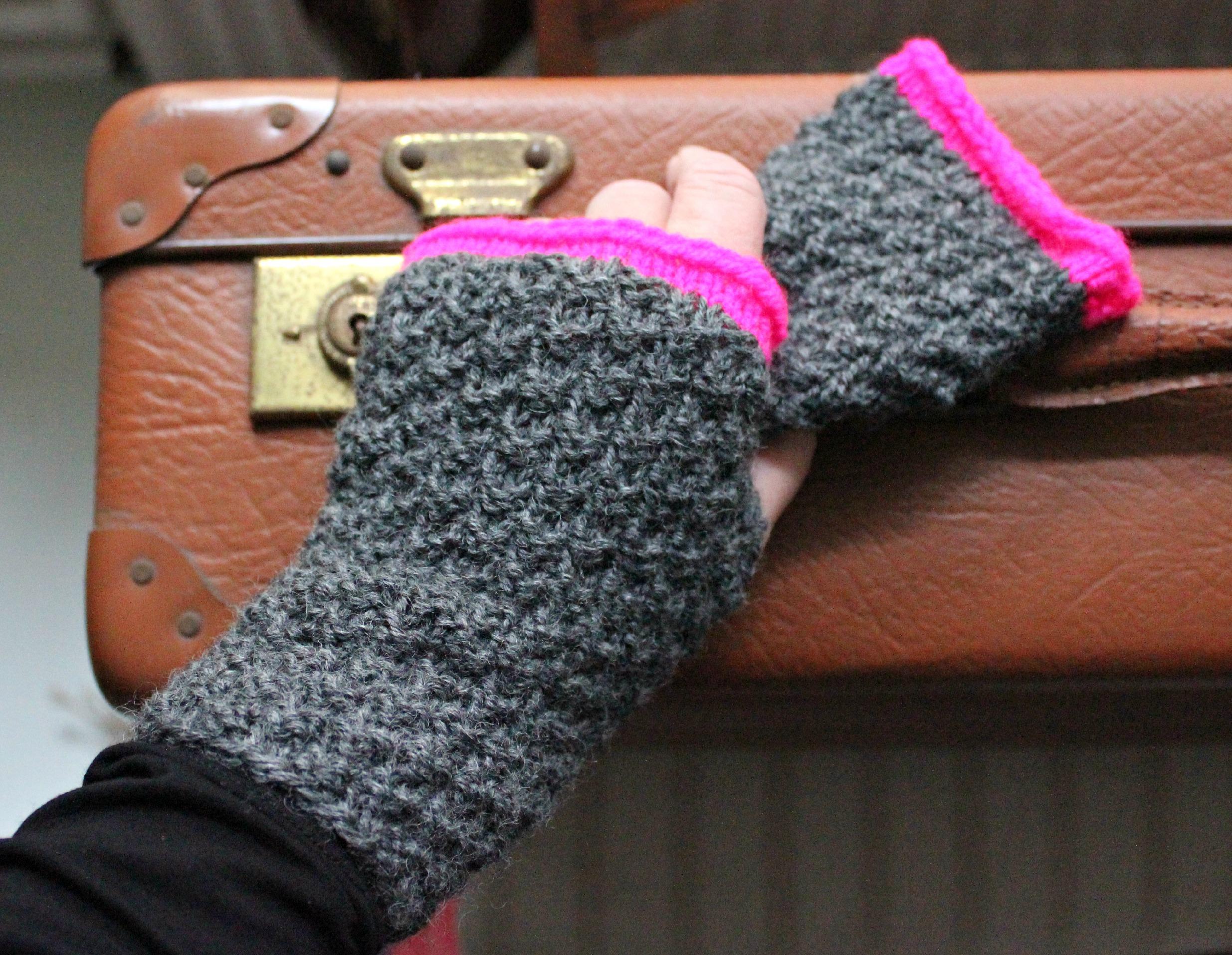 strikkede handsker uden fingre