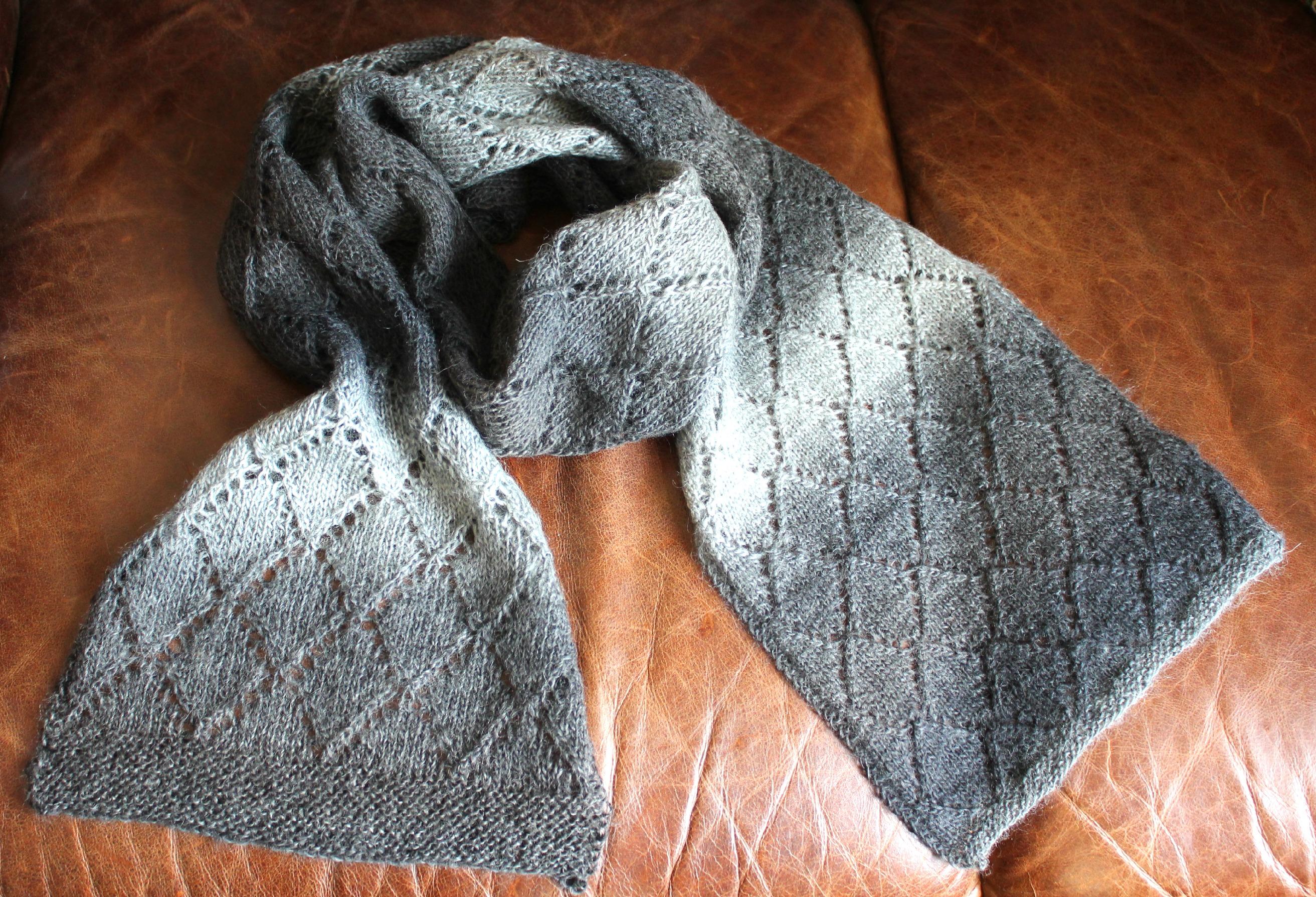 store tørklæder strik