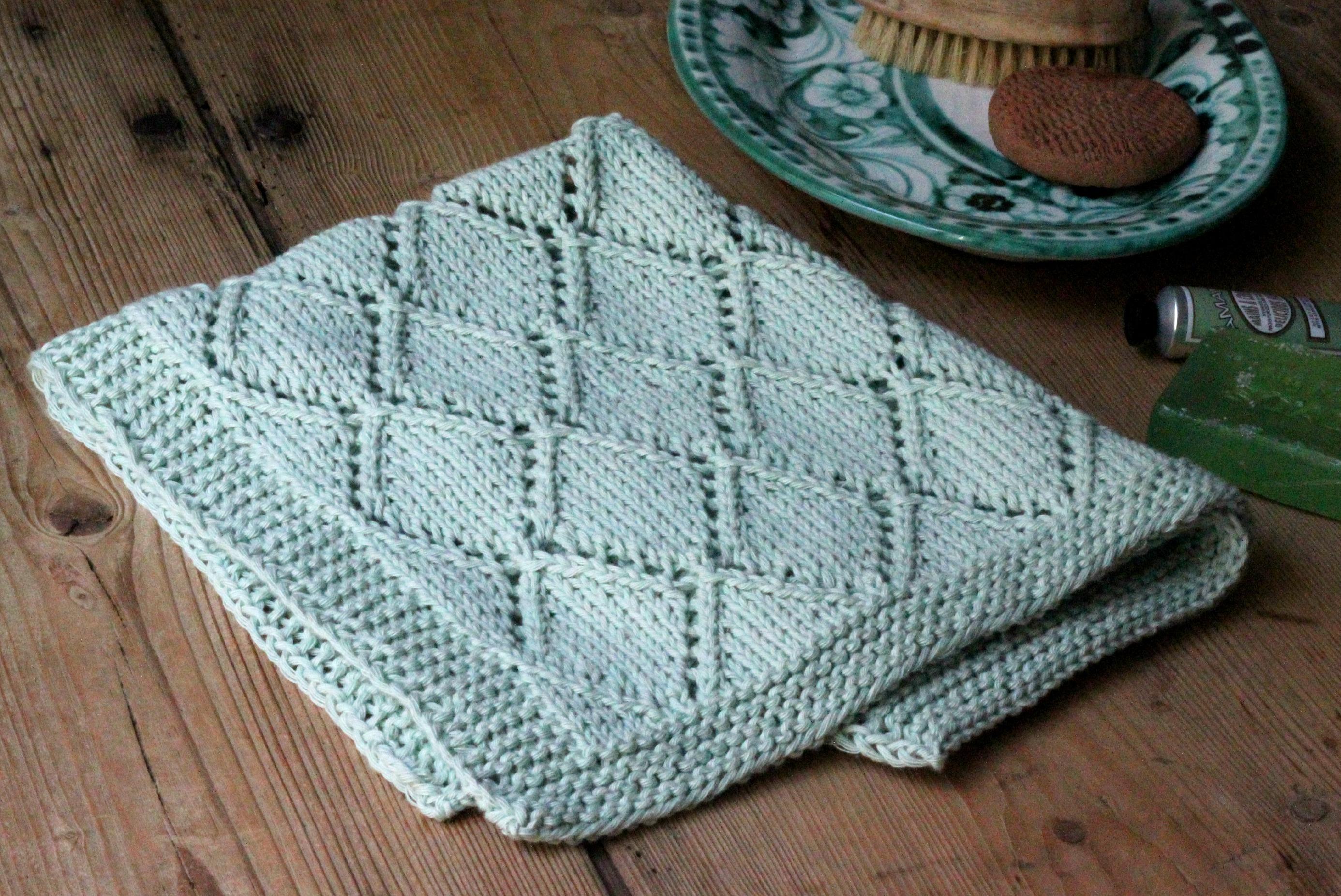 hæklet gæstehåndklæde