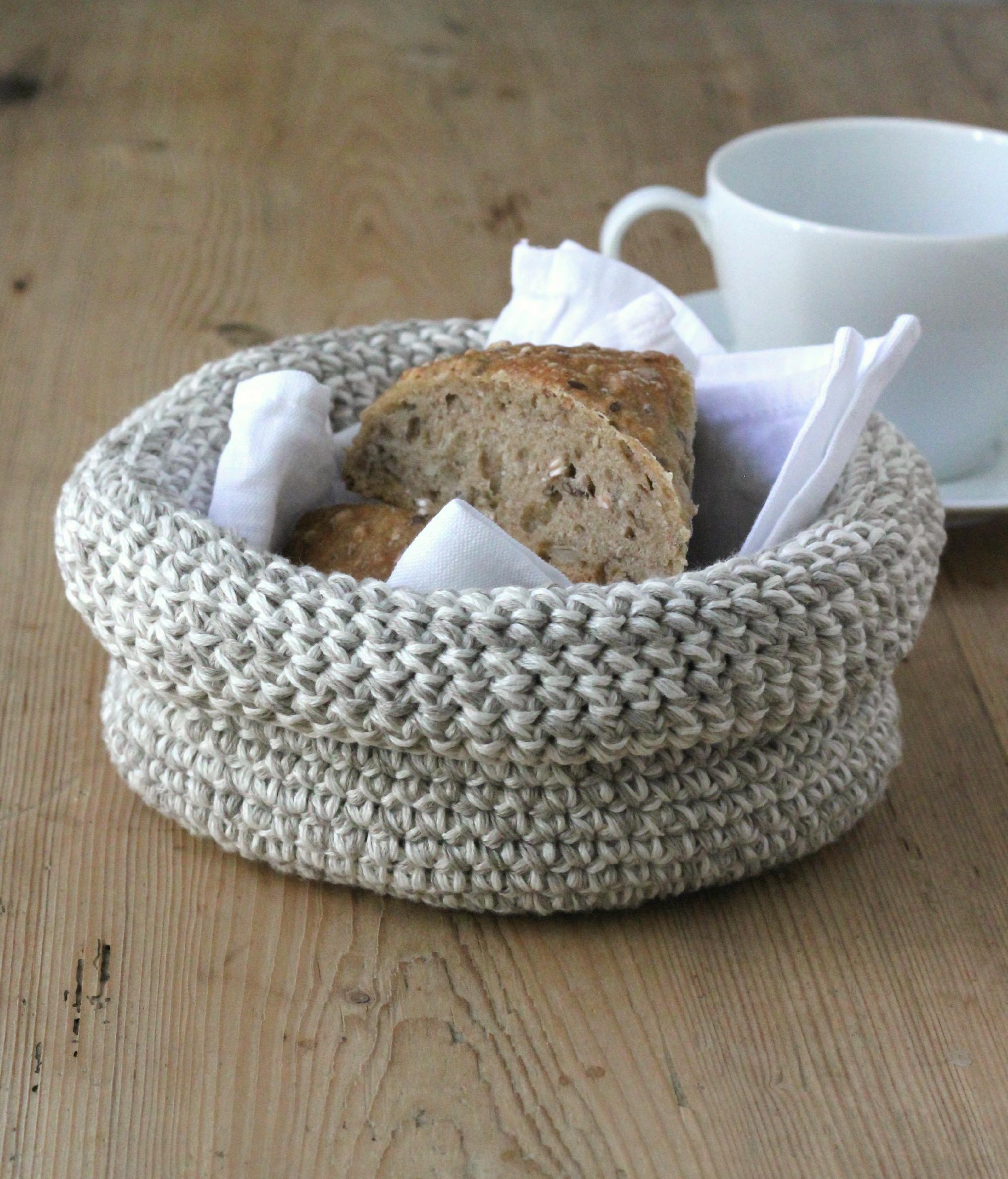 hæklet brødkurv opskrift
