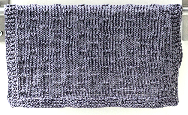 strikket køkkenhåndklæde opskrift