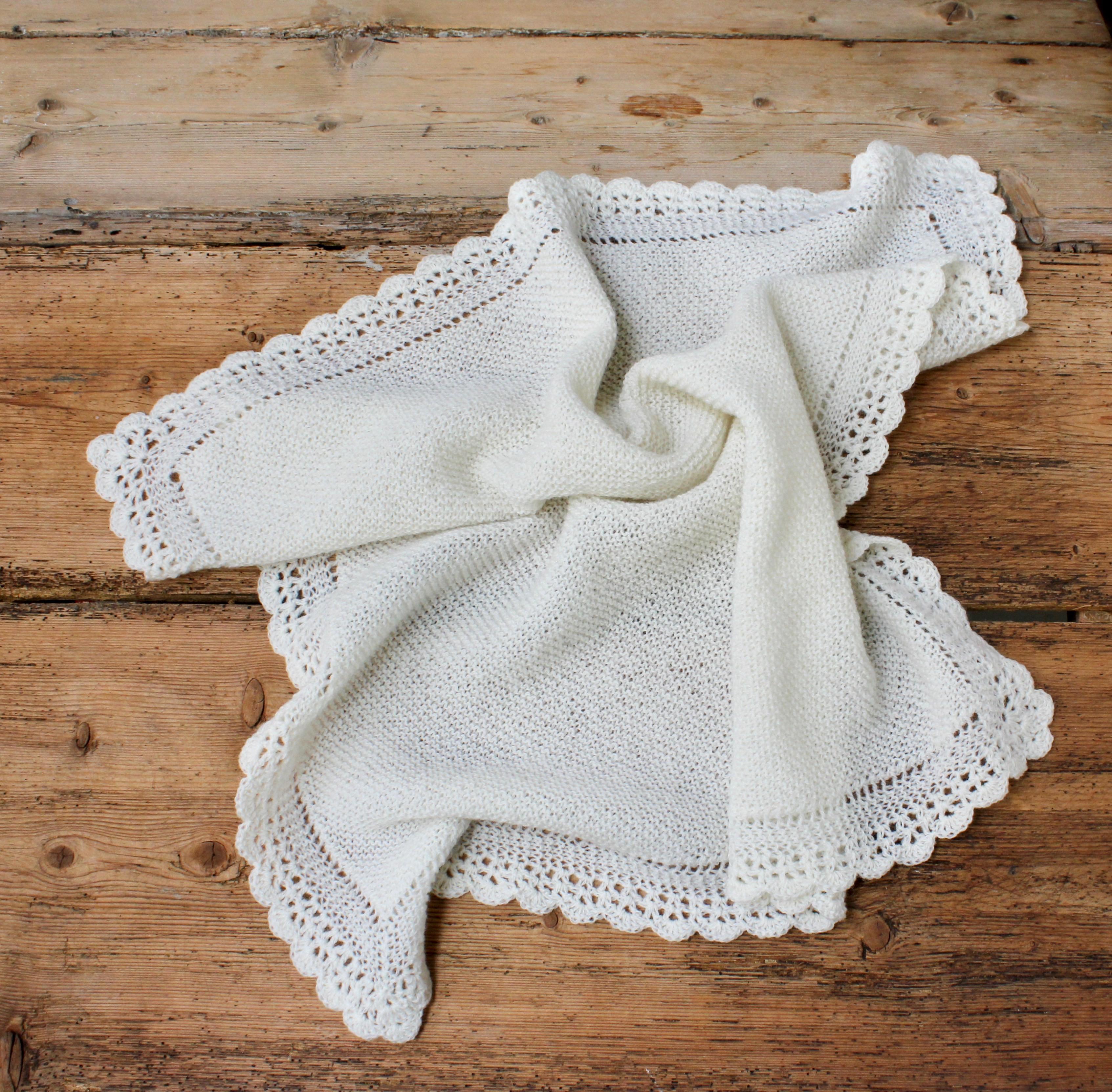 babytæppe strik